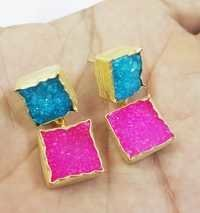 Druzy Gold Plated Earring