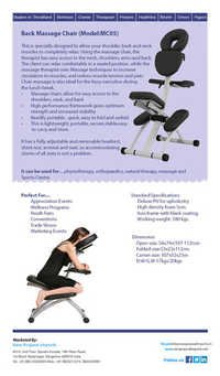 Back massage Chair MC05