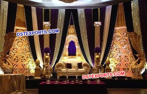 Fiber Rajwada Wedding Stage Set