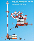 16 (18) Meter Mobile Telescopic Tilting Type Tower