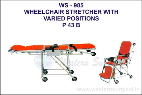 Wheelchair Strecture With Varied Positions