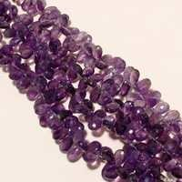 Faceted Almond Beads