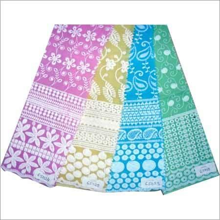 Ladies Chikan Dress Material