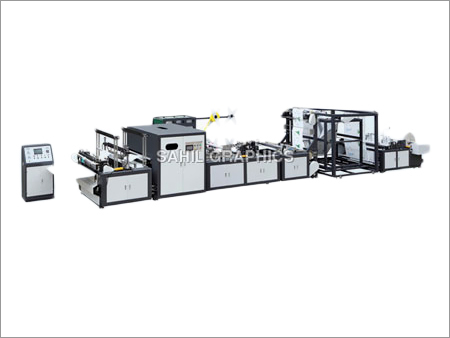 Automatic Box Type Non Woven Bag Making Machine with Handle Attachment