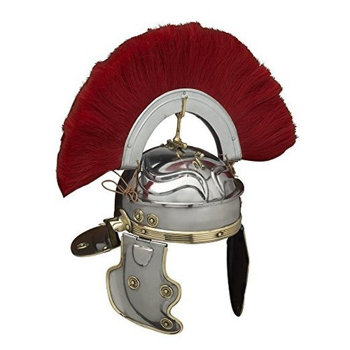 Medieval Roman Gallic 'G' Centurion Helmet One Size - Metallic Armor