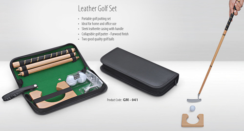 Leather Golf Set
