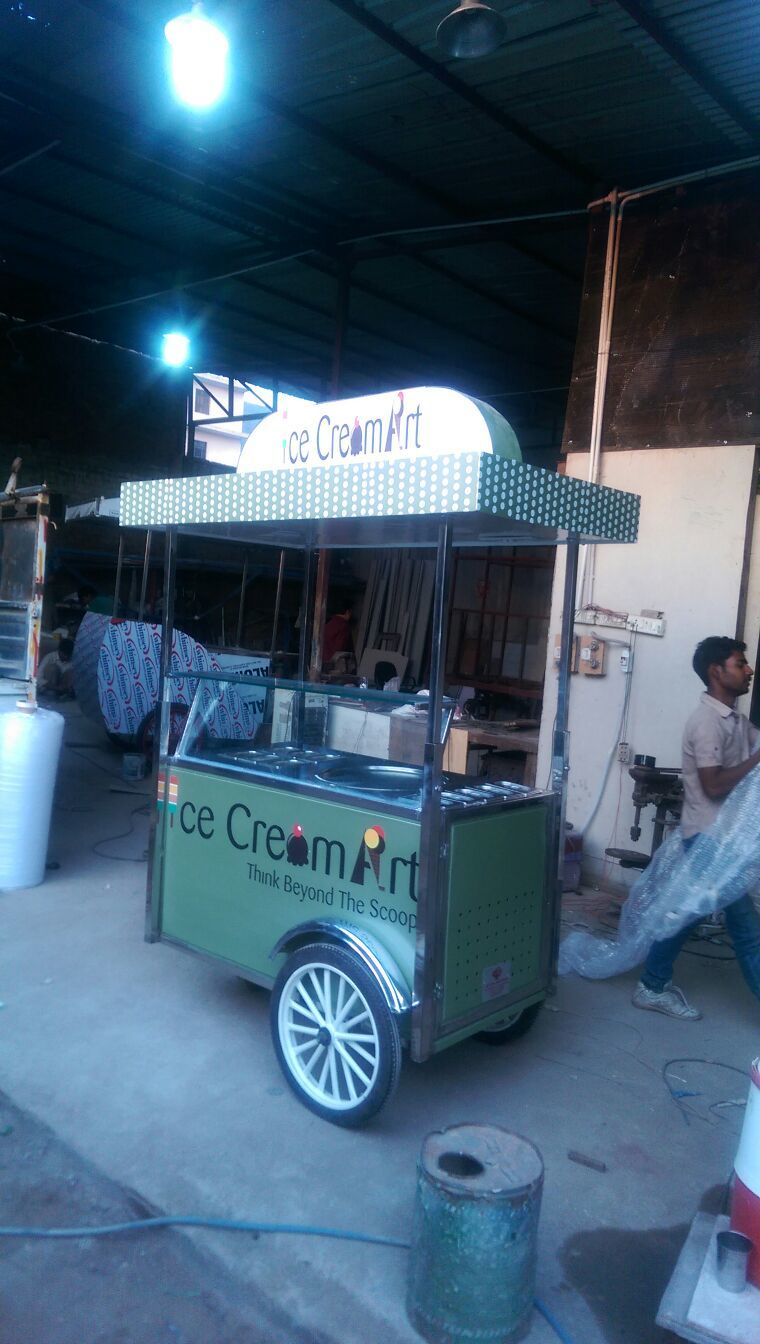 Ice Cream Wheel Cart