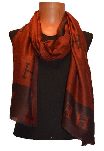 Branded Cashmere Scarf