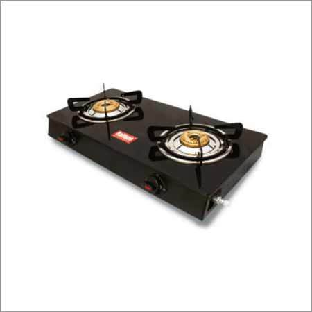 Black Cute 2 Burner Glass Stove