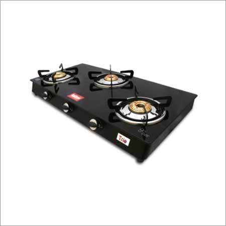 Black Trio Glass Stove