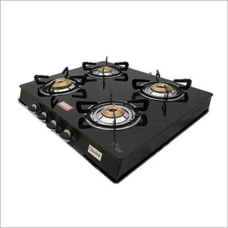 Black Quadra Glass Stove Burner