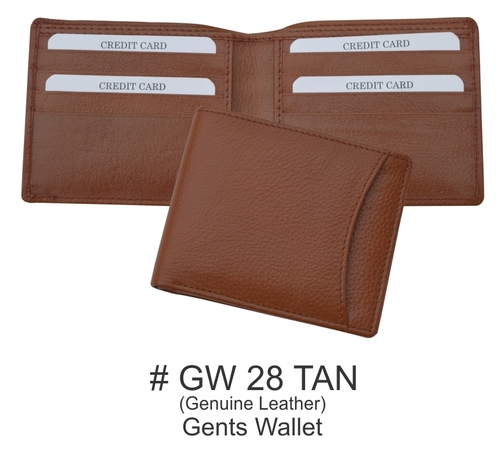 Gents Wallet in Brown Color