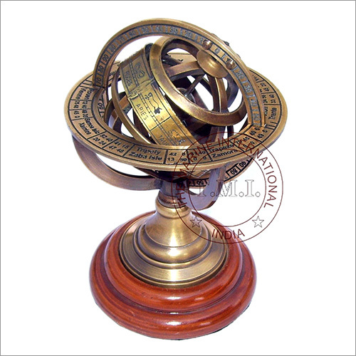 Brown Antique Brass Armillary