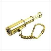 Brass Key Chain Telescope