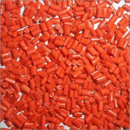 Orange Crystal Plastic Granules