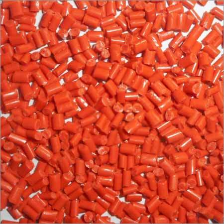 Orange Crystal Plastic Granules