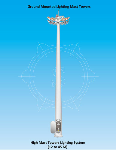 Ground mounted High Mast Lighting Tower