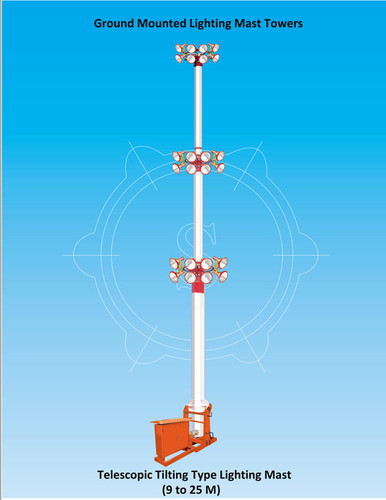 Ground mounted Telescopic Tilting type Lighting Tower