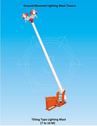 Ground mounted Tilting type Lighting Tower