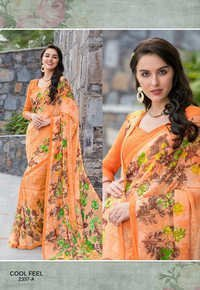 Pure Georgette Printed Saree