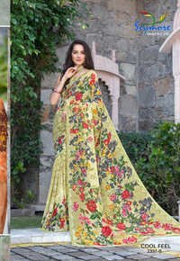 Fancy Printed Georgette Saree
