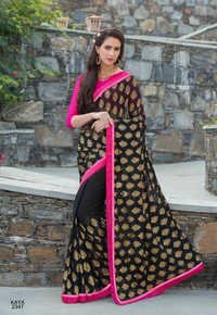 Black Printed Saree