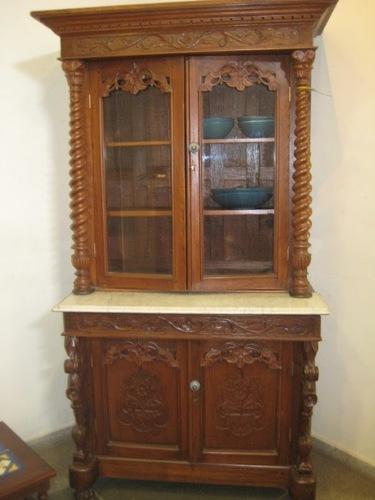 wood carving cupboard