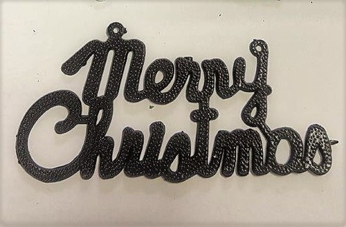 Metallizing on decorative Merry christmas
