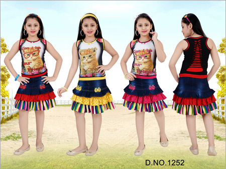 Kids Skirt With Top