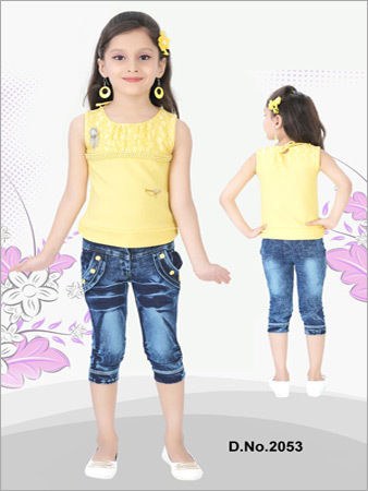 Denim Jeans With Top
