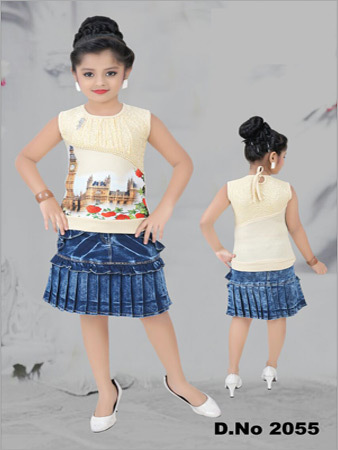 Denim Skirt With Top