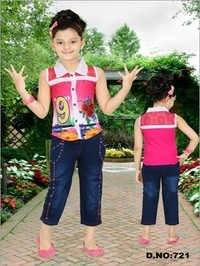 Kids Jeans With Top