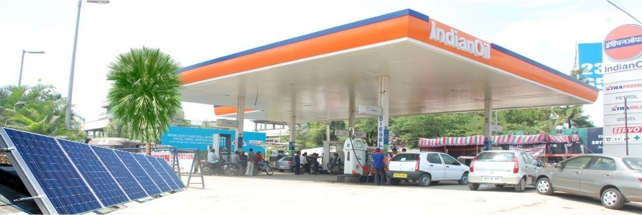 IOCL Petrol Pump Canopy Manufacturer,Supplier in Indore