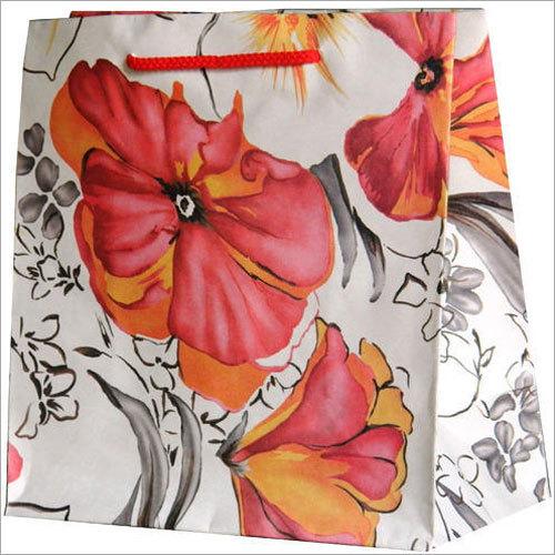 White Kraft Multicolor Paper Bag