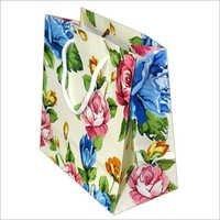 Flower Printed Paper Bags