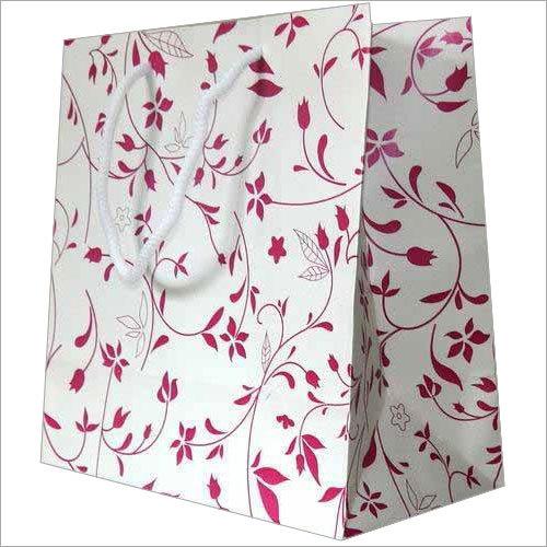 White Kraft Single Color Paper Bags
