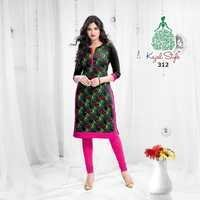 Stitched Cotton Kurtis Wholesale