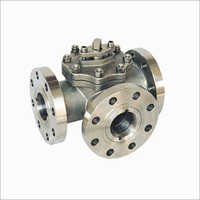 Three Way Titanium Ball Valve