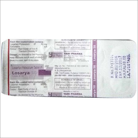 Losartan 50 Mg Tablets