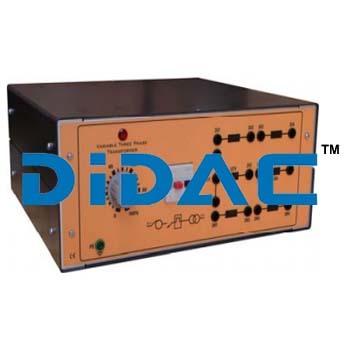 Variable Three Phase Transformer