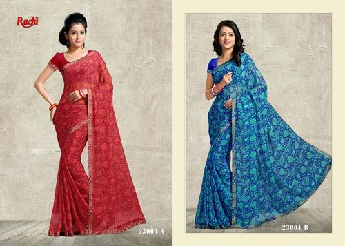 Chiffon Shaded Saree