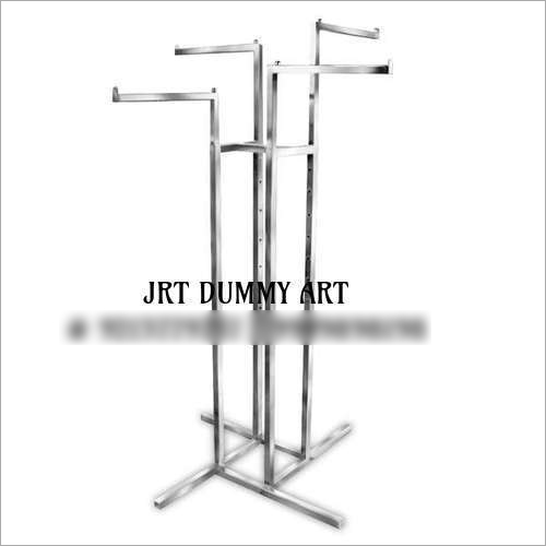4-Way Slanted Arms Clothing Stand(Chrome)