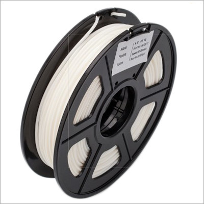 3D Printer Filament Flexible White 1.75 Mm 0.5 Kg