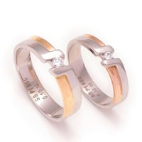 Gold Plated Platinum Ring