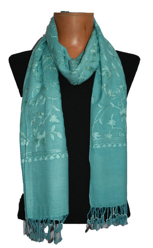 Wool Modal Embroidery Scarf