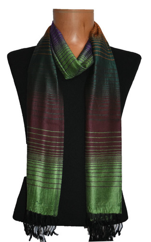 Viscose Dobby Stripes Scarf