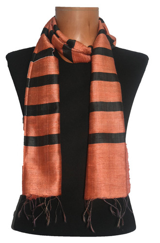 Raw Silk Stripes Stole