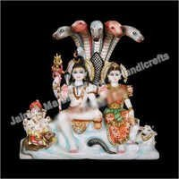 Marble Moorti Shiv ji Parvati