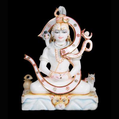 Marble Sitting Shiv Moorti