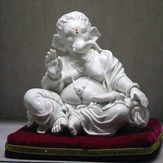 Marble Sitting Ganesha Statue